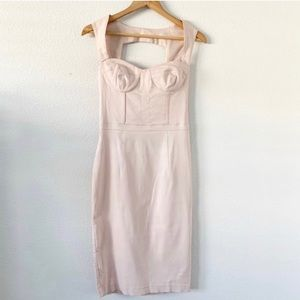 ASOS  Light Pink Midi Bustier Bodycon Dress size 4